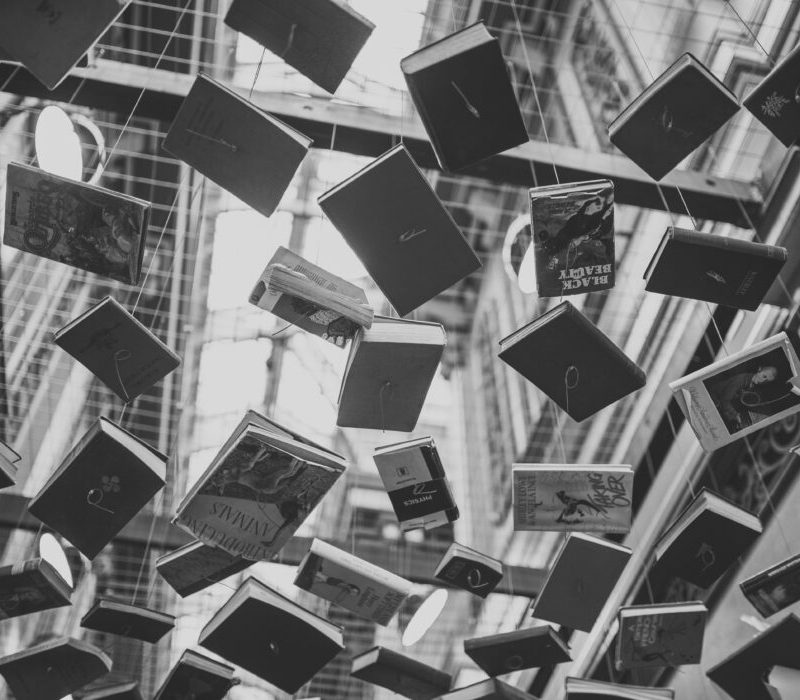books sculpture